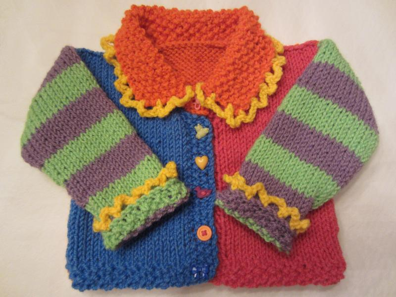 Marcie Brooks colorful sweater