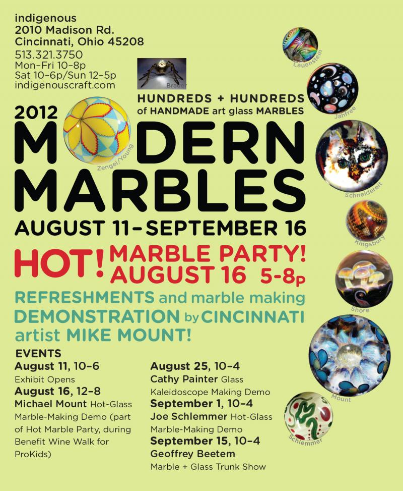 events of Modern Marbles 2012