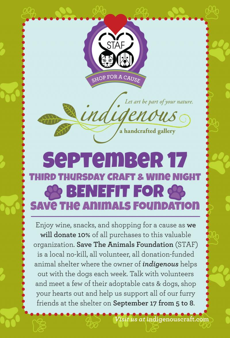 Join us September 17 for Save The Animals Foundation Benefit