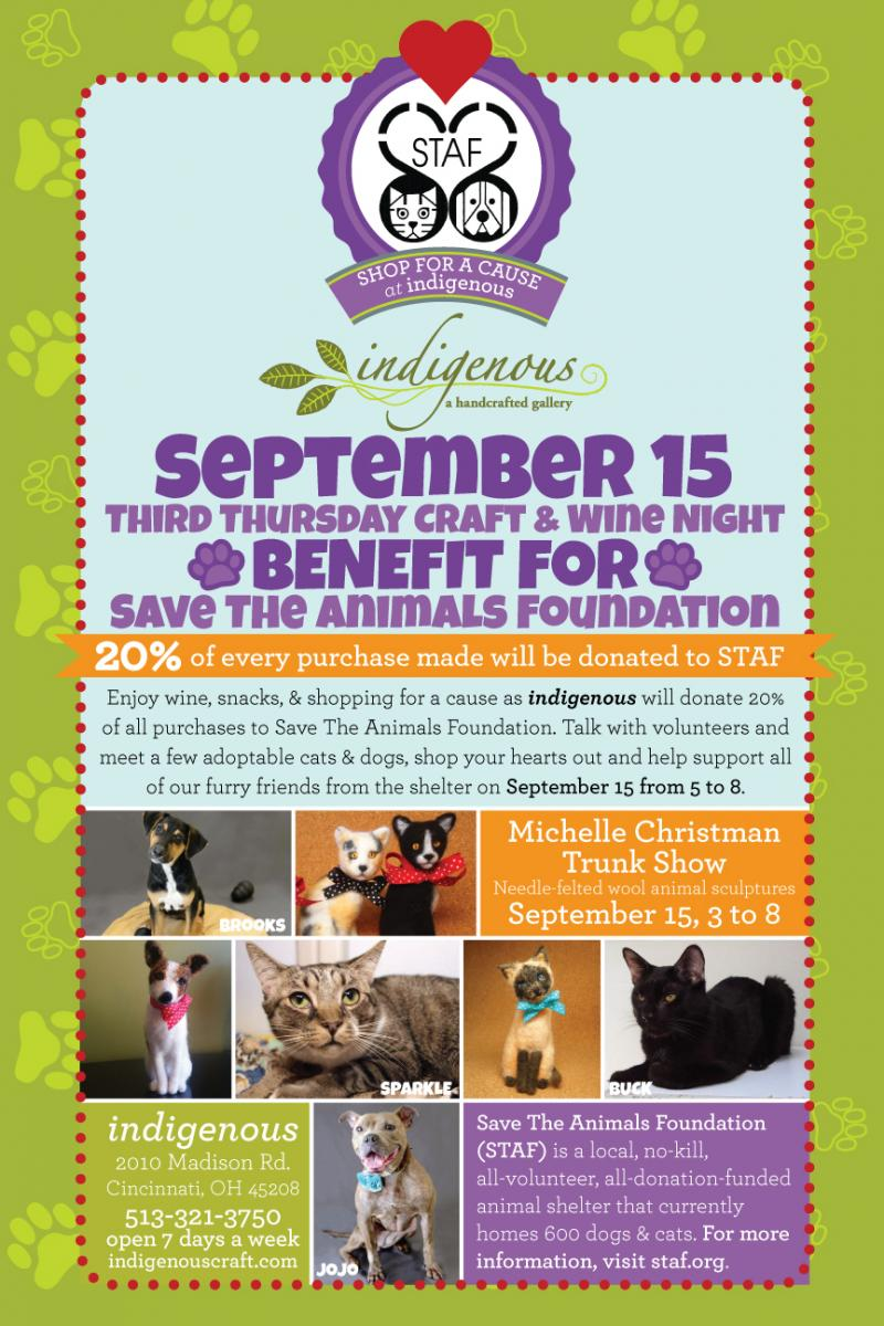 BENEFIT for Save The Animals Foundation
