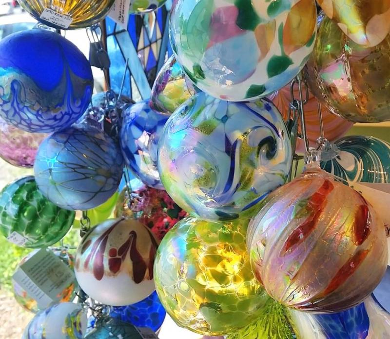 art glass ornaments at indigenous