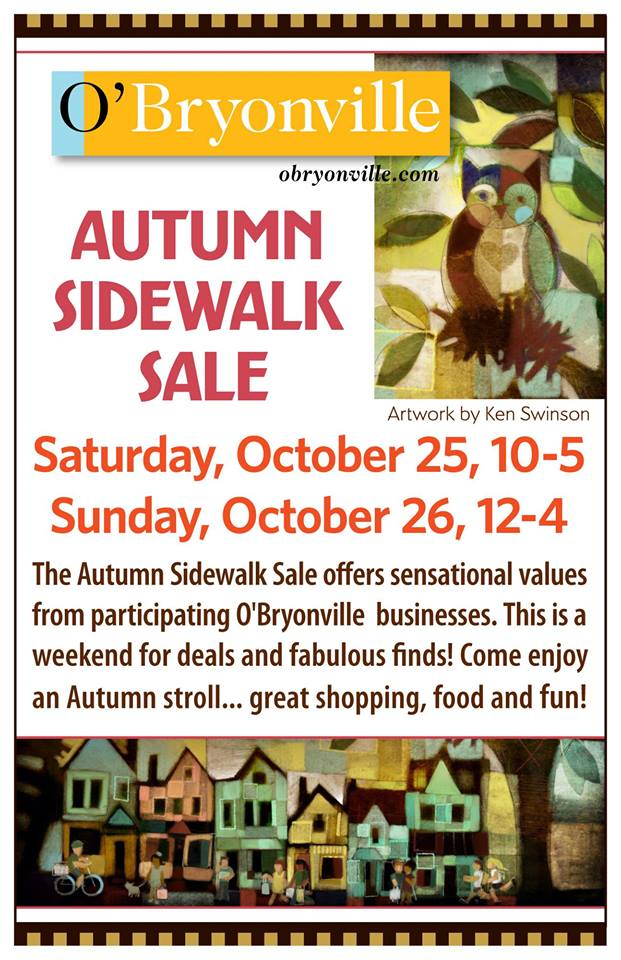 Neighborhood Sidewalk Sale ~October 25 & 26